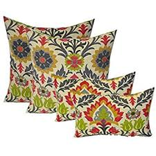 set of 4 indoor outdoor pillows 17 square throw