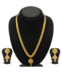 gold plate necklace images Sukkhi alloy gold plating studded gold coloured necklaces set jpg