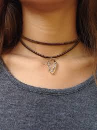 vintage leather choker necklace images 56 choker necklaces natural amethyst pendant charm choker jpg