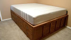 queen size platform bed frame plans queen size platform bed plans