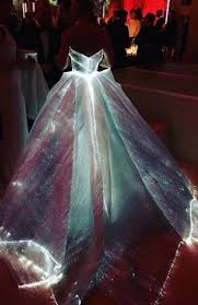 zac posen light up gown 2016 met gala style star sisters