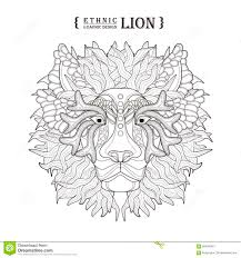 lion head stock vector image of abstract background 60466381