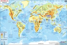 map of the physical map physical map of the