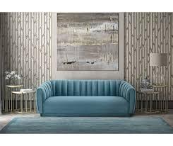 arno sea blue velvet sofa tov s165 tov furniture