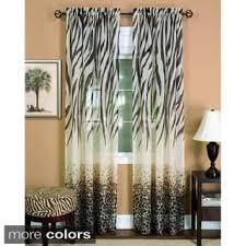 Zebra Print Curtain Panels Animal Print Curtains U0026 Drapes Shop The Best Deals For Dec 2017