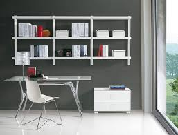 office wall design ideas wall mounted shelving home office
