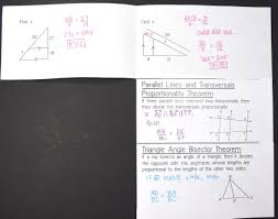 triangle proportionality theorems foldable geometry math and