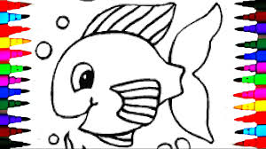 coloring pages baby golden fish coloring book kids fun art