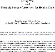 download arkansas living will and durable power of attorney for