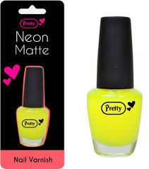 pretty neon matte nail varnish 15ml yellow amazon co uk beauty