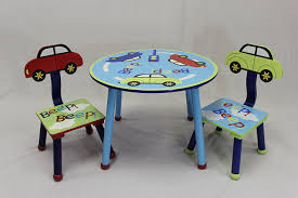 amazon com ehemco kids table and chair set car theme kitchen