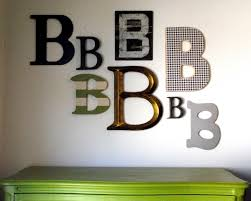 Last Name Wall Decor The Shabby Nest The Letter B A Wall Collage For The Boys U0027 Room