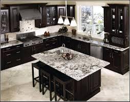 Kitchen Stunning Kitchen Backsplash Dark Cabinets Quartz