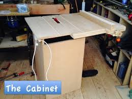 how make a table saw how to make a homemade table saw 3 the cabinet youtube