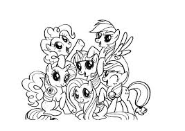free coloring pages pony friendship magic kids