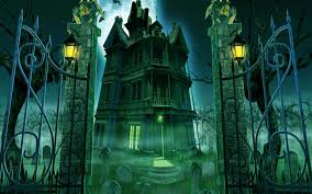 graveyard of halloween scary ghost town hd wallpaper