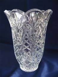 Antique Lead Crystal Vase Antique Etched Cut Crystal Flower Pattern Crystal Flower Flower