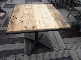 metal frame pallet wood table top 99 pallets