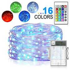 picture frame light battery operated amazon com led string lights yoozon 16ft 50 leds fairy lights