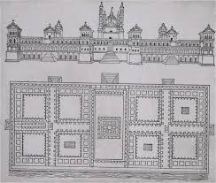 036 early renaissance milan plan of ospedale maggiore by
