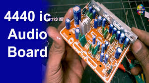 7 1 home theater circuit diagram 4440 ic audio board diy mounting cutting soldering hindi