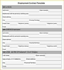 job contracts templates employment contract template free download