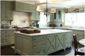 kitchen green kitchen walls brown cabinets white sink with
