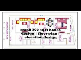 small 700 sq ft house design floor plan elevation design