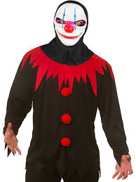 killer clown mask killer clown shirt mask fancy dress costume