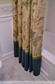 diy decorative shower curtain u2013 finished and installed