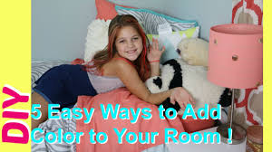 5 diy room decor easy ways to add color to girls bedrooms