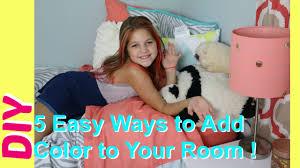 Kids Diy Bedroom Ideas 5 Diy Room Decor Easy Ways To Add Color To Girls Bedrooms