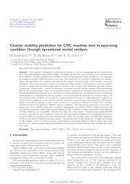 PDF Chatter stability prediction for CNC machine tool in operating