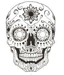 simple norse tattoo sugar skull elaxsir