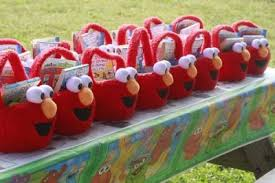 elmo birthday party elmo birthday party ideas favor baskets jpg
