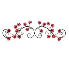 Italian Backyards by Backyards Red Flower Over The Door Home Metal Decor Outside
