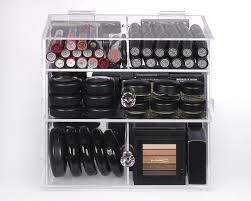 Amazon Organizer Amazon Com Zahra Beauty Acrylic Makeup Organizer Double Diamond
