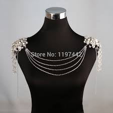 long chain crystal necklace images Women long crystal necklace boday chain bridal shoulder strap jpg