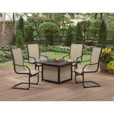 Fire Pit And Chair Set Better Homes And Gardens Pembroke Place 5 Pc Fire Pit Sling Chat