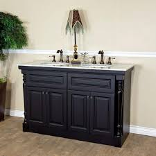 Dark Gray Bathroom Vanity by Bellaterra Home Parma 55 In Double Vanity In Dark Mahogany With