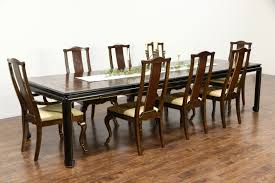 Drexel Heritage Connoisseur Chinese Motif Vintage Dining Set - Drexel heritage dining room set
