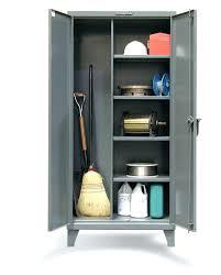 Metal Locking Storage Cabinet Metal Storage Cabinet With Locking Doors Janitorial Storage
