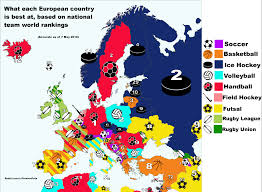 European Country Map by The Sport That Each European Country Is Best At According To