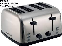 4 Slice Toaster White Black U0026 Decker 4 Slice Long Cool Touch Toaster White Et304 B5