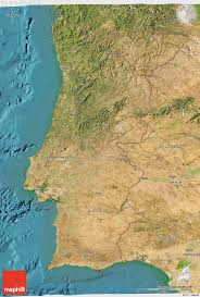 Portugal Spain Map by Satellite 3d Map Of Portugal