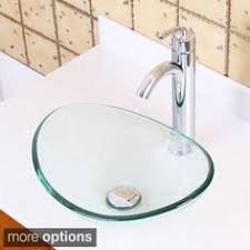 Boat Faucets And Sinks Elite Gd33f371023bn Tempered Bathroom Glass Vessel Sink W Unique