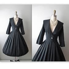 vestido de los años 50 vintage 1950 negro lety pinterest
