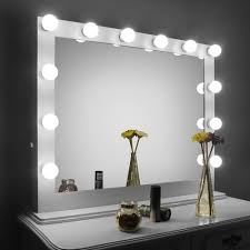 Amazon Vanity Mirror Amazon Com Aoleen White Large Hollywood Makeup Mirror With Light