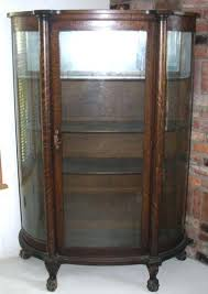 antique curio cabinet with curved glass contemporary antique curio cabinet image of oak curio cabinets