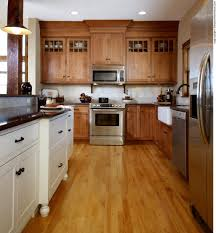kitchen cabinets mixed finishes